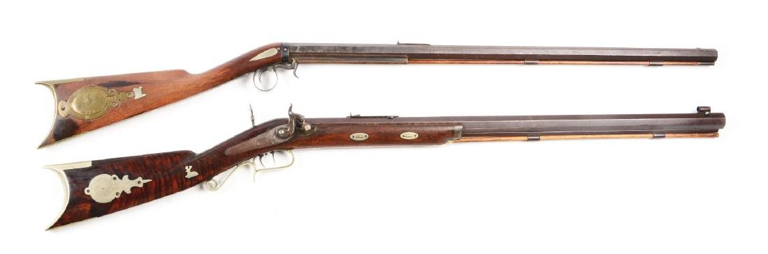 (A) Lot of Two Percusion Rifles.