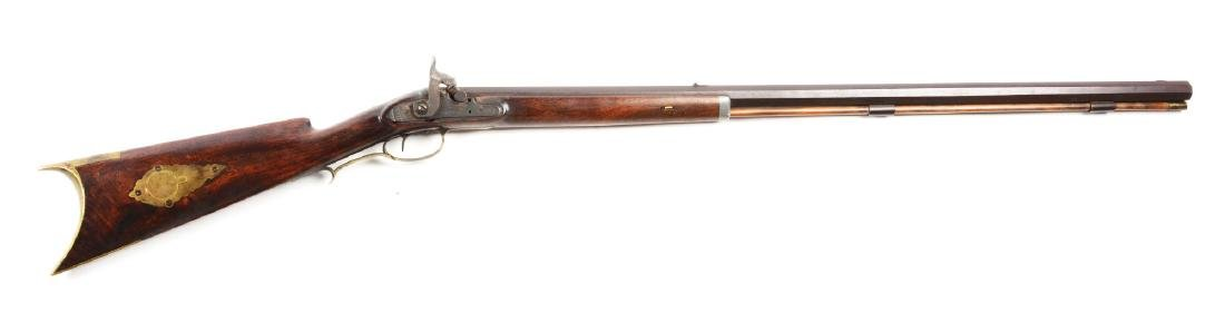 (A) J. Dickert Half Stock Percussion Rifle.