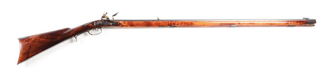 (A) Contemporary Tennessee Style Flintlock Rifle by M.