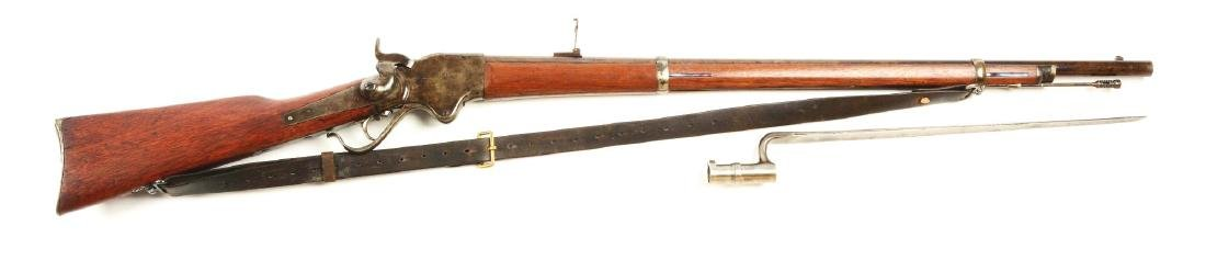 (A) Spencer Model 1865 Lever Action Rifle.