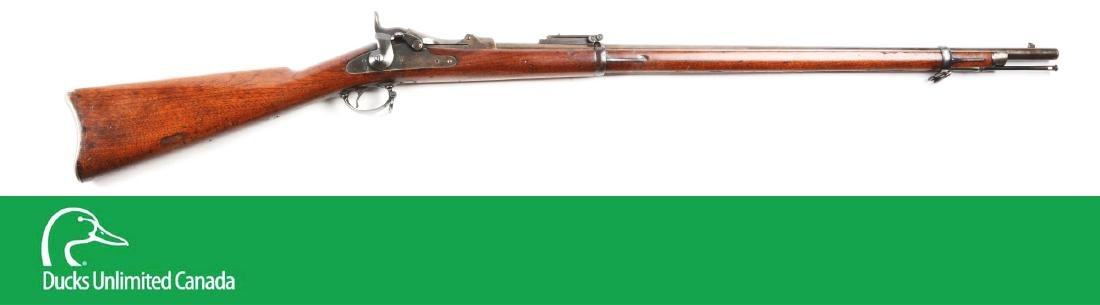 (A^) U.S. Springfield Model 1884 Trapdoor Rifle.