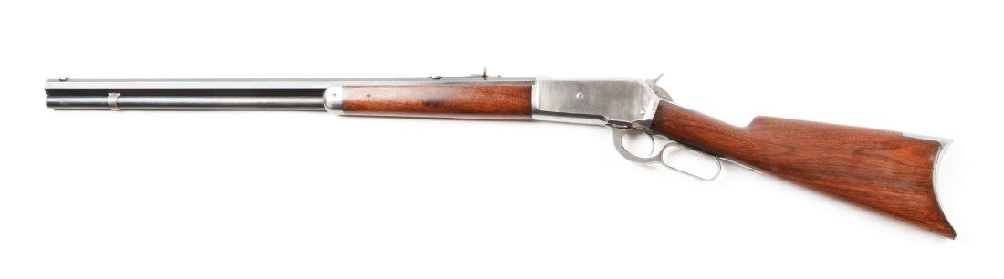 (A) Winchester Model 1886 Lever Action Rifle (1887). - 2