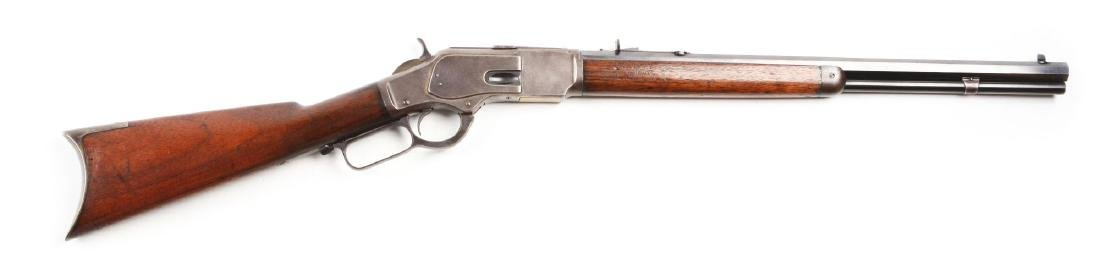 (A) Winchester Model 1873 Lever Action Rifle.
