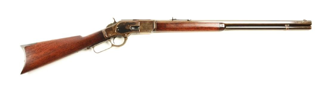 (A) Winchester Model 1873 Lever Action Carbine.