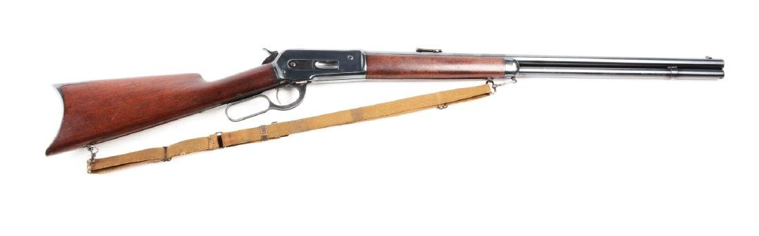 (A) Winchester Model 1886 .45-70 Lever Action Rifle.