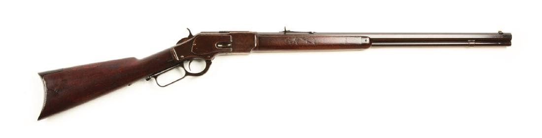 (A) Winchester 1873 Lever Action Rifle.