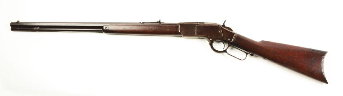 (A) Winchester 1873 Lever Action Rifle. - 2