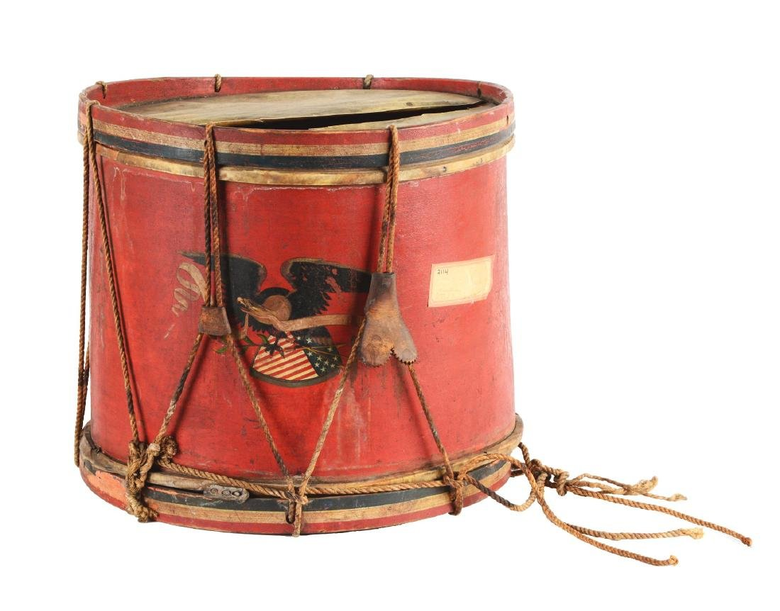 American Pre-Civil War Militia Drum.