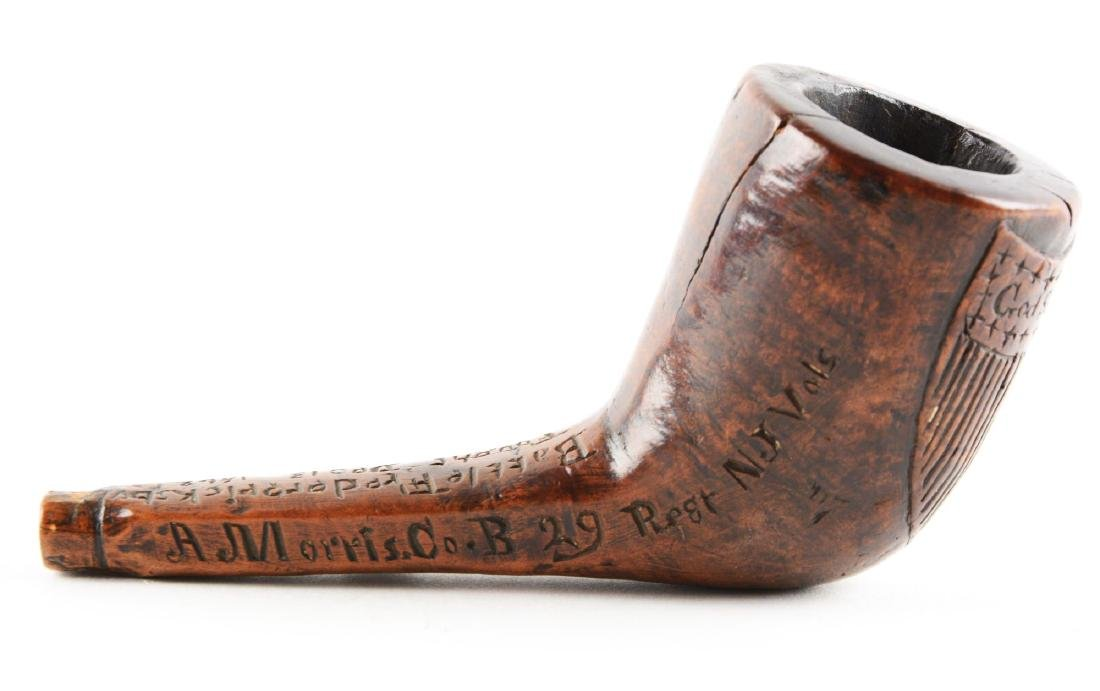 Carved Patriotic and Historic Civil War Pipe of A. - 3