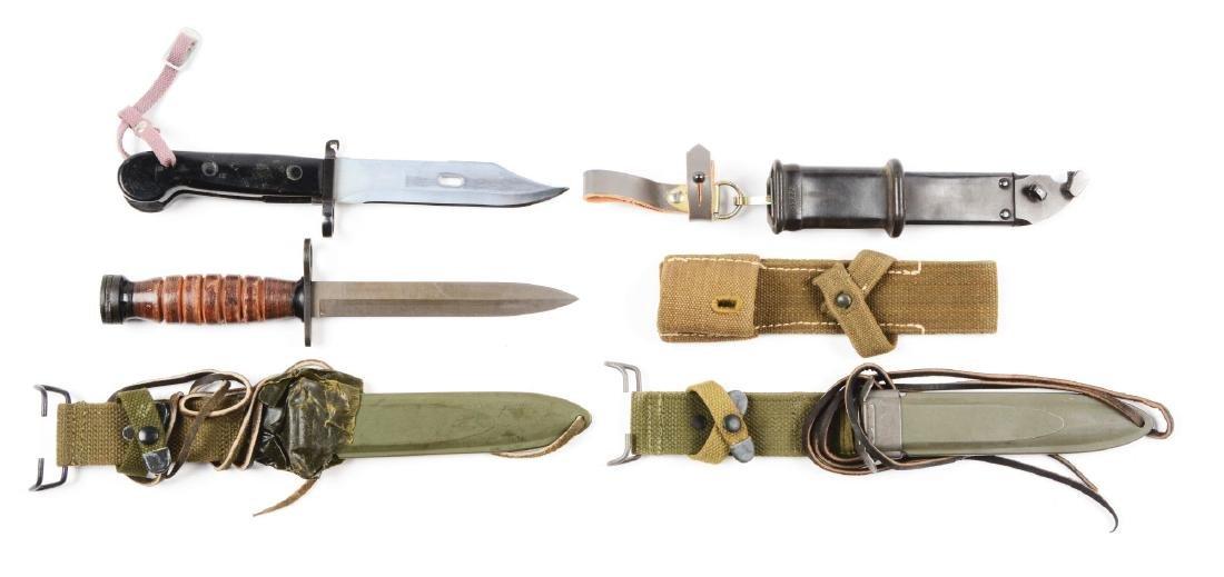 Lot of 2: US & AK47 Bayonets, Plus K98K Frog & U.S. M8