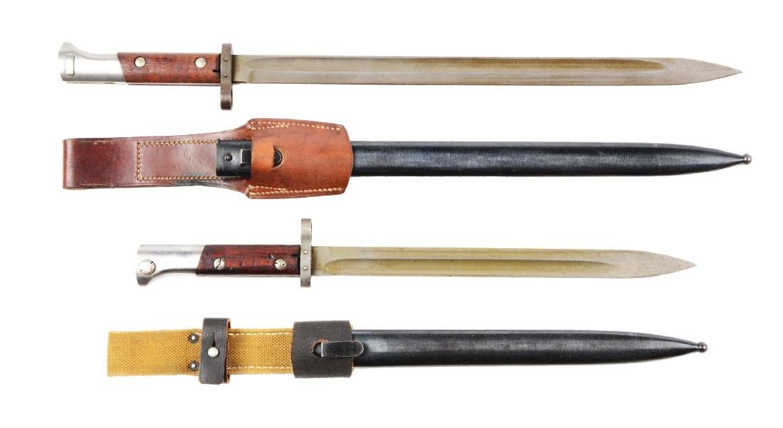 Lot of 2: Czech Bayonets, Scabbards & Frogs.