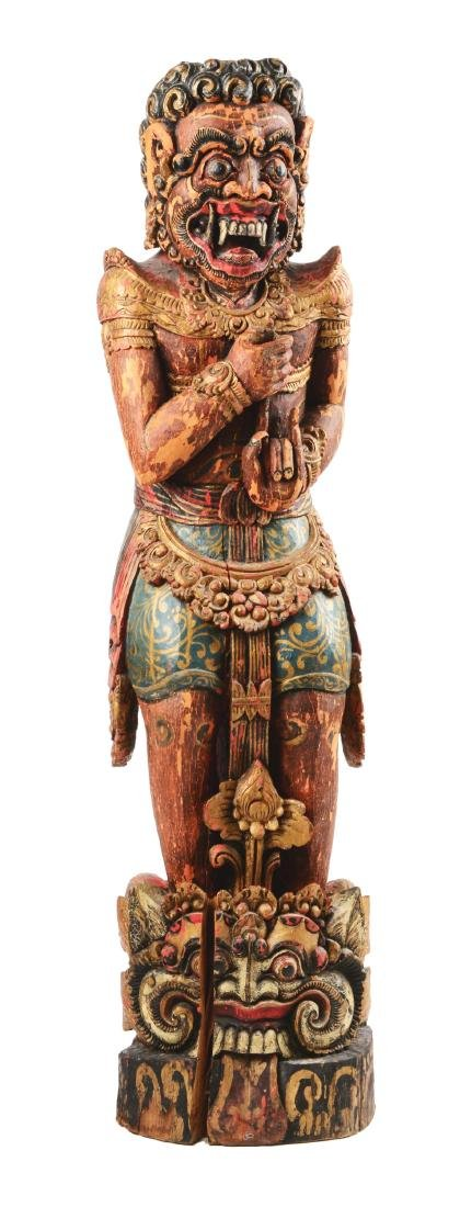 Monumental Indonesian Figural Kris Stand.
