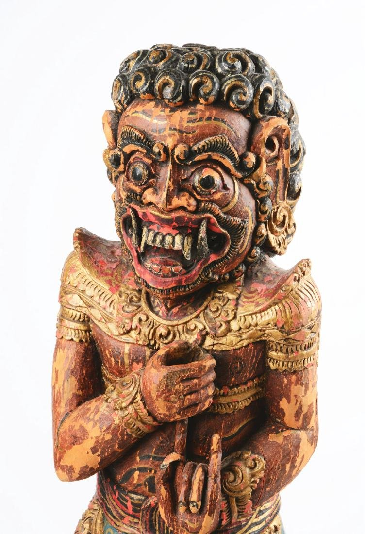Monumental Indonesian Figural Kris Stand. - 5