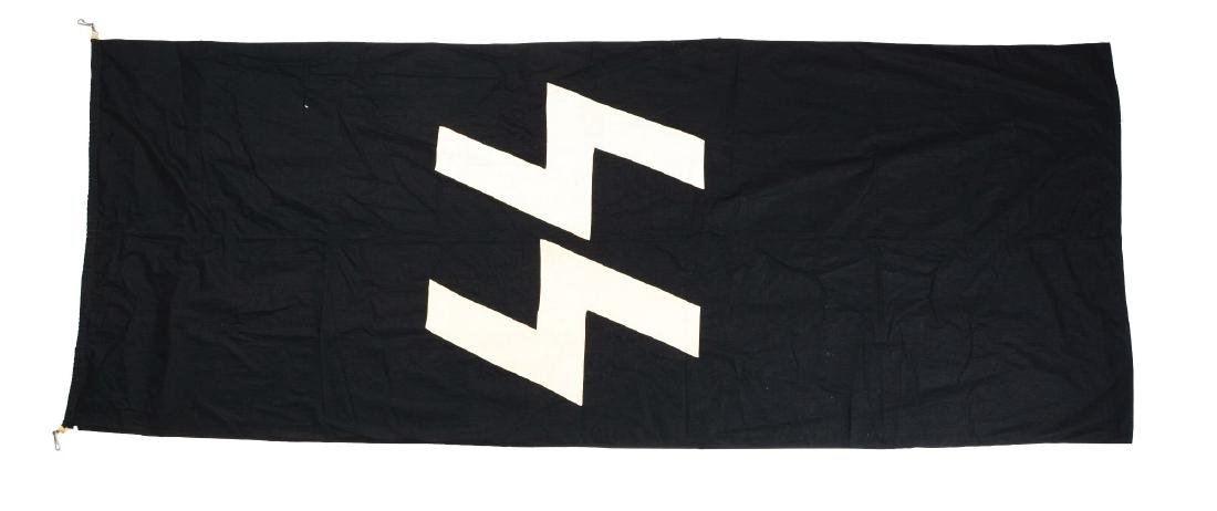 Large 4' X 10' Waffen SS Flag.