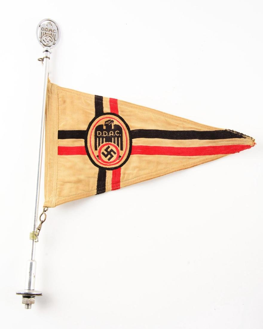 Lot of 3: Imperial & Nazi Era Flags. - 2