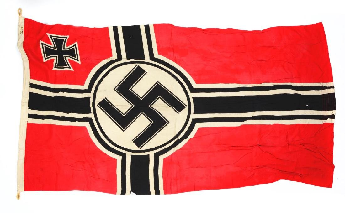Lot of 3: Imperial & Nazi Era Flags. - 7