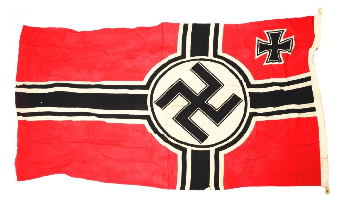 Lot of 3: Imperial & Nazi Era Flags. - 8