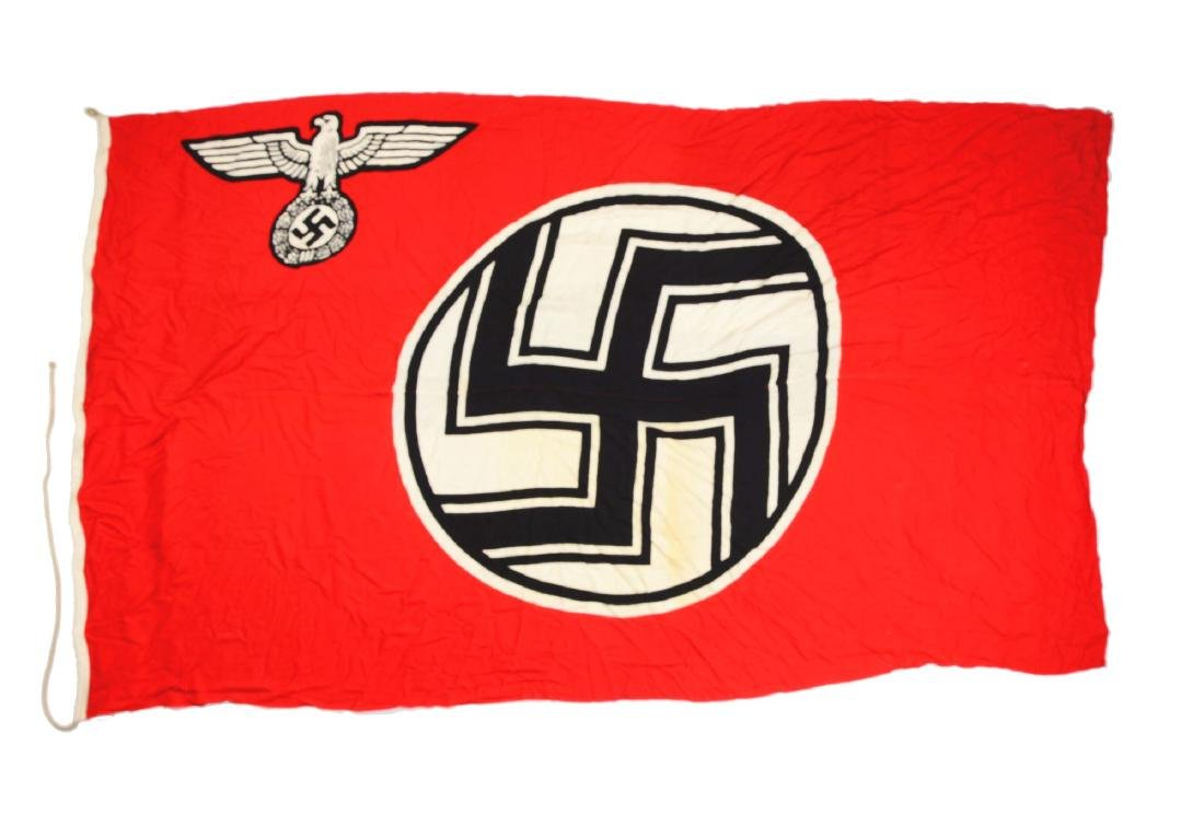 Large 6 - 1/2' X 11' Nazi Battle Flag.