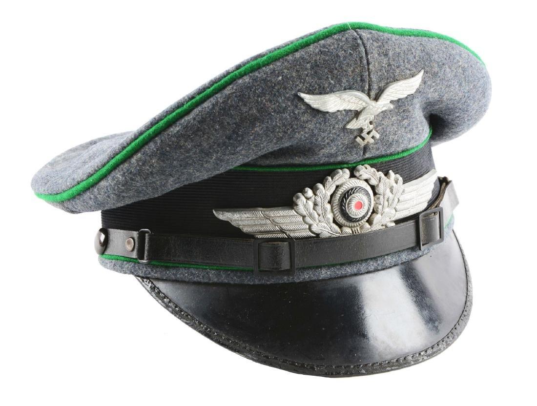 German World War II Air Force Enlisted Visor Cap.