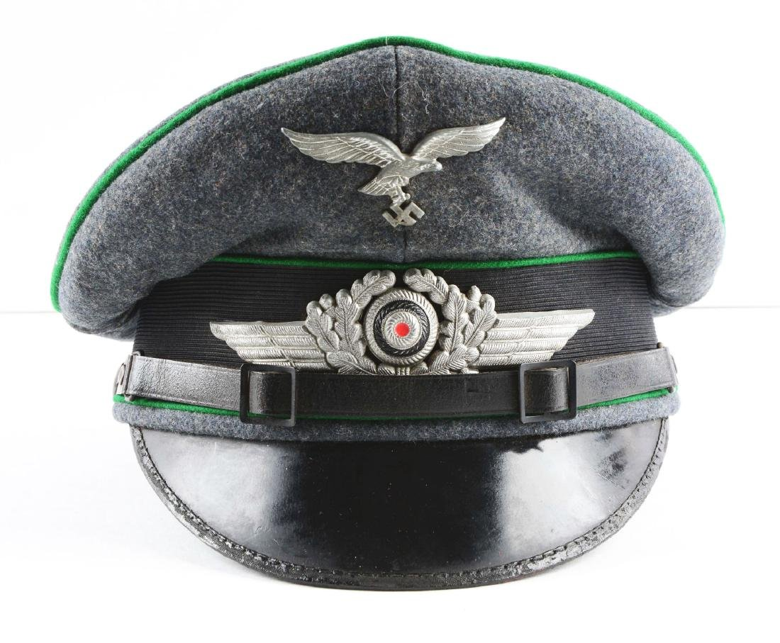 German World War II Air Force Enlisted Visor Cap. - 3