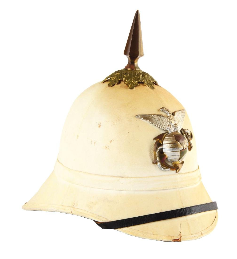 Model 1887-89 U.S. Marine Corp Dress Sun Helmet.