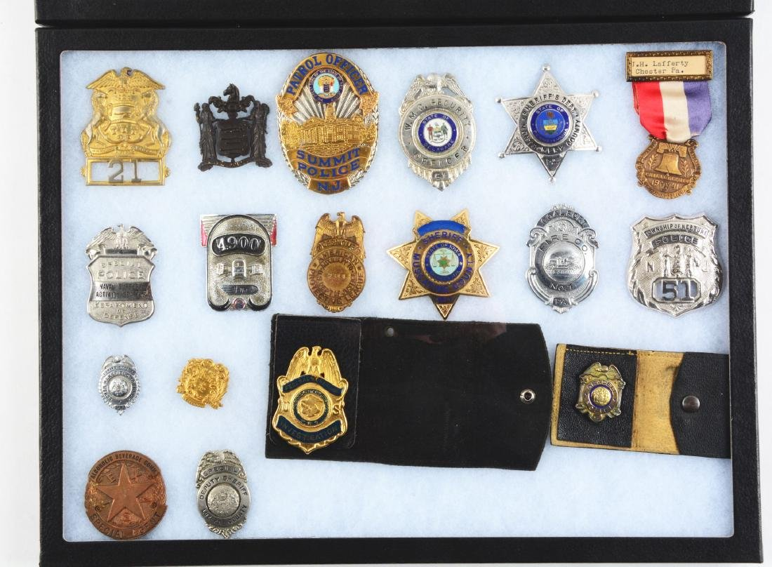 Lot of 36: Police and Fire Department Badges. - 2