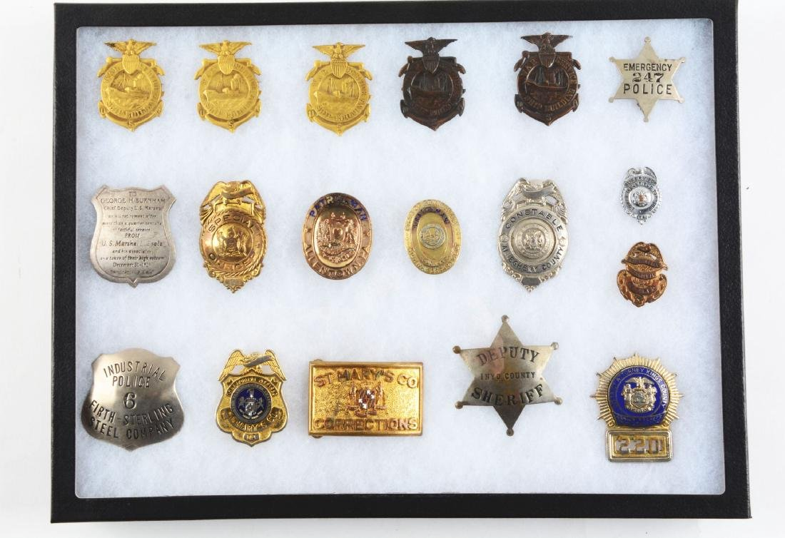 Lot of 36: Police and Fire Department Badges. - 3