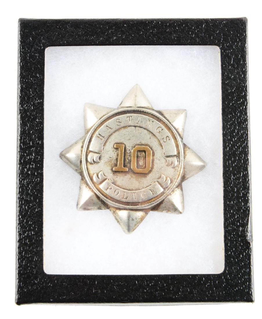 Hastings Police Department Badge.
