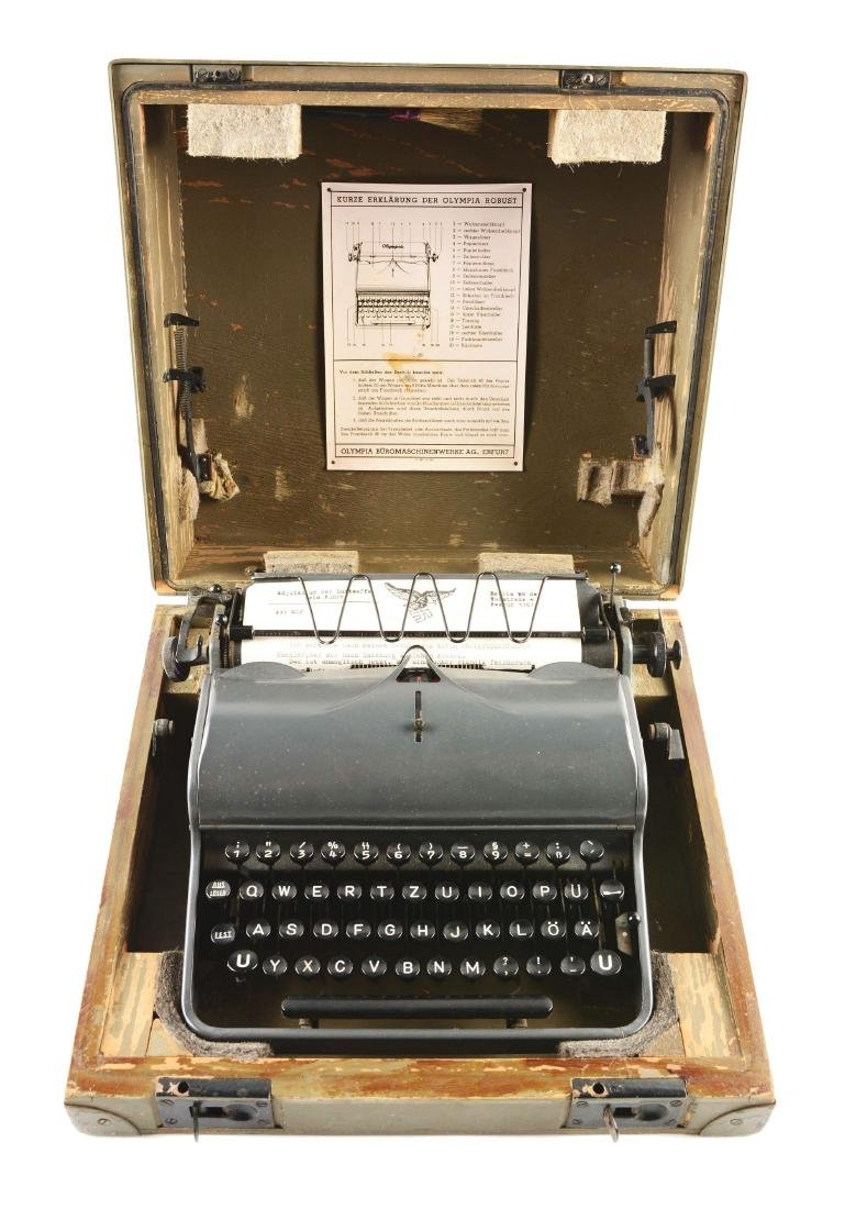 German World War II Military Olympia Typewriter.