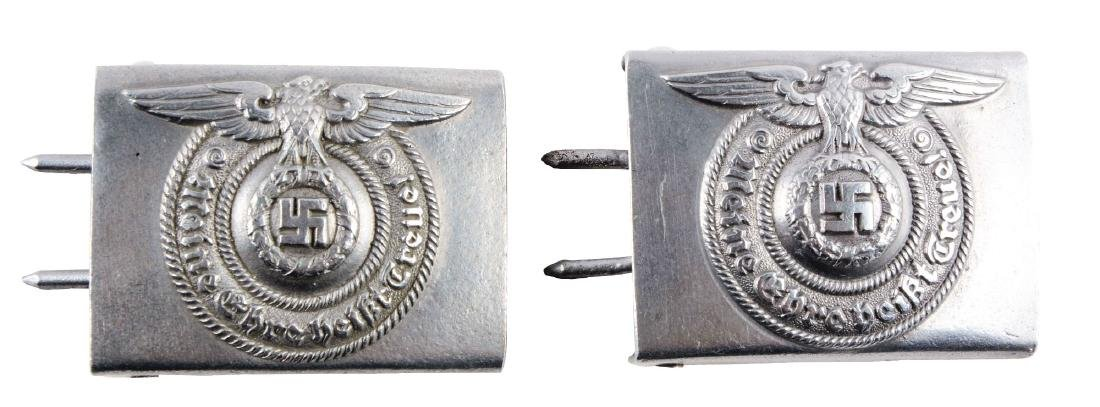 Lot of 2: German World War II EM/NCO SS Belt Buckles.