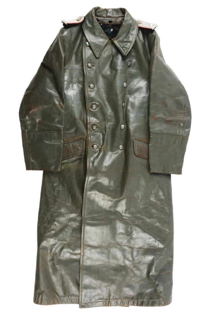 German World War II Leatherette Overcoat.