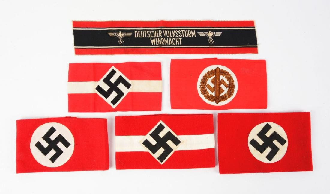 Lot of 6: Third Reich Armbands.
