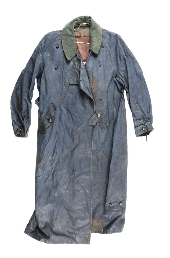 German World War II Motorcyclist All Weather Overcoat.