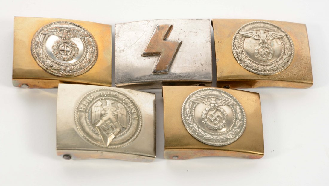 Lot of 5: German World War II Buckles.
