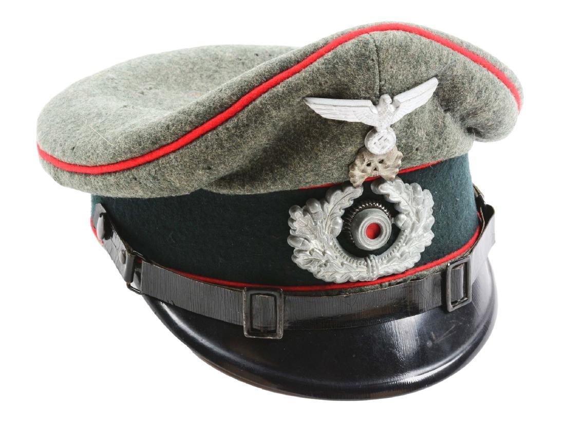 German World War II Artillery Enlisted Visor Cap.