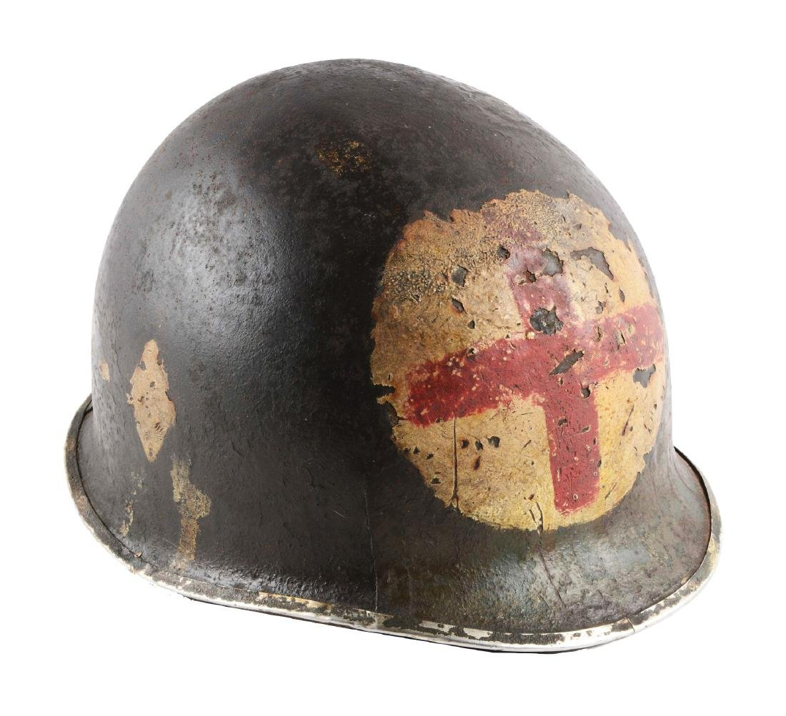 U.S. World War II 101st Airborne Medic's Helmet.