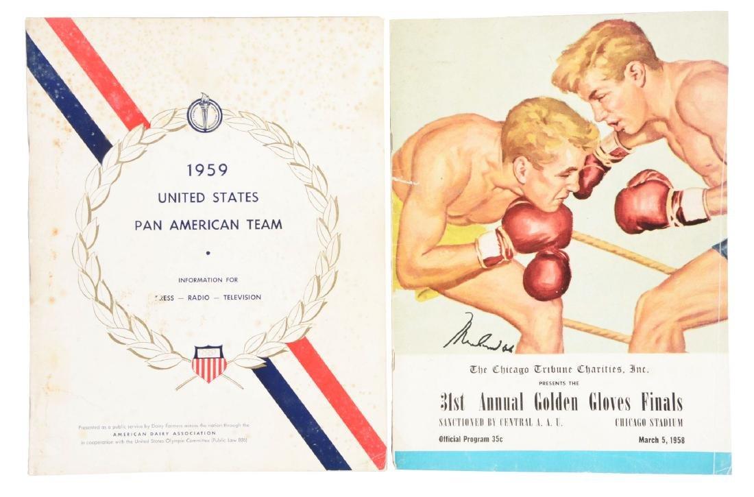 March 5, 1958 Muhammad Ali Signed Golden Gloves Finals