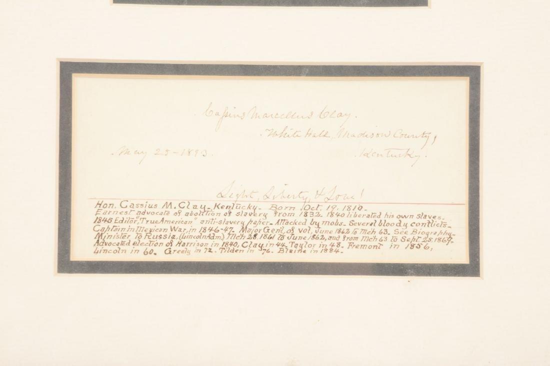 Pair of The Original Cassius Clay Signed Items. - 4
