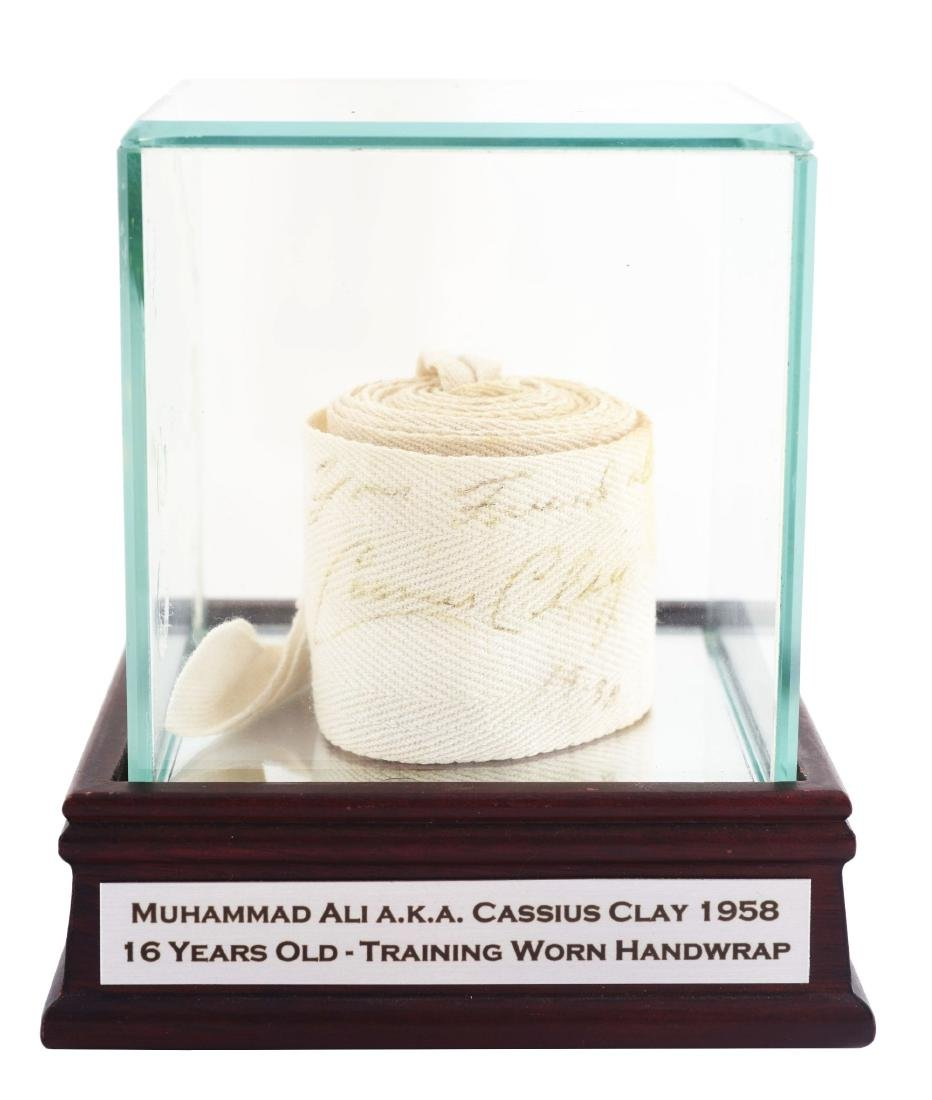 1958 Cassius Clay Signed Used Hand Wrap.
