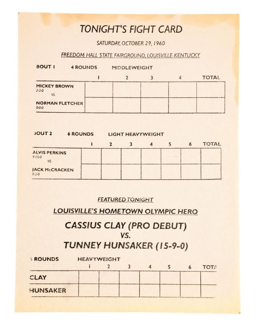 1960 Cassius Clay vs Tunney Hunsaker Program 1st