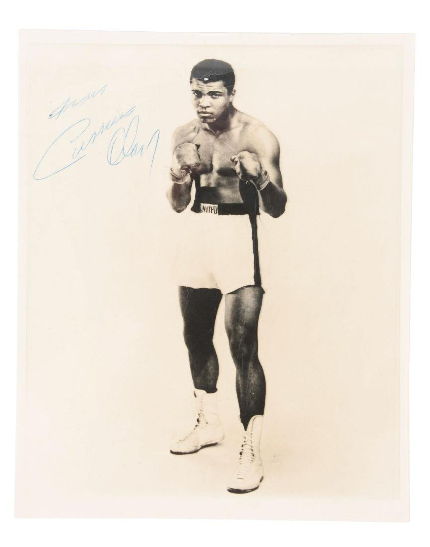 1960's Vintage Cassius Clay Signed  8x10 Photo.