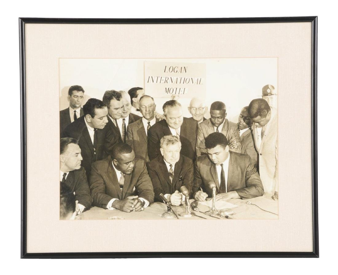 Oversized Cassius Clay and Sonny Liston Contract