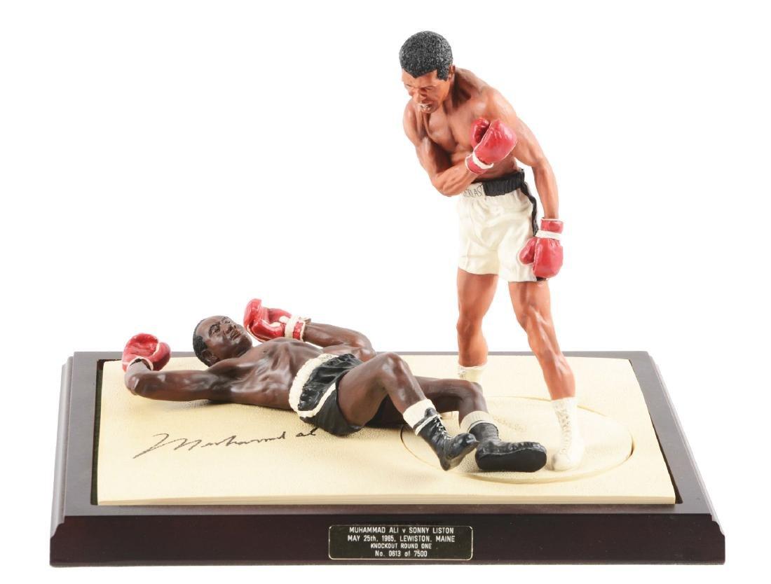 Muhammad Ali and Sonny Liston Statue Set.