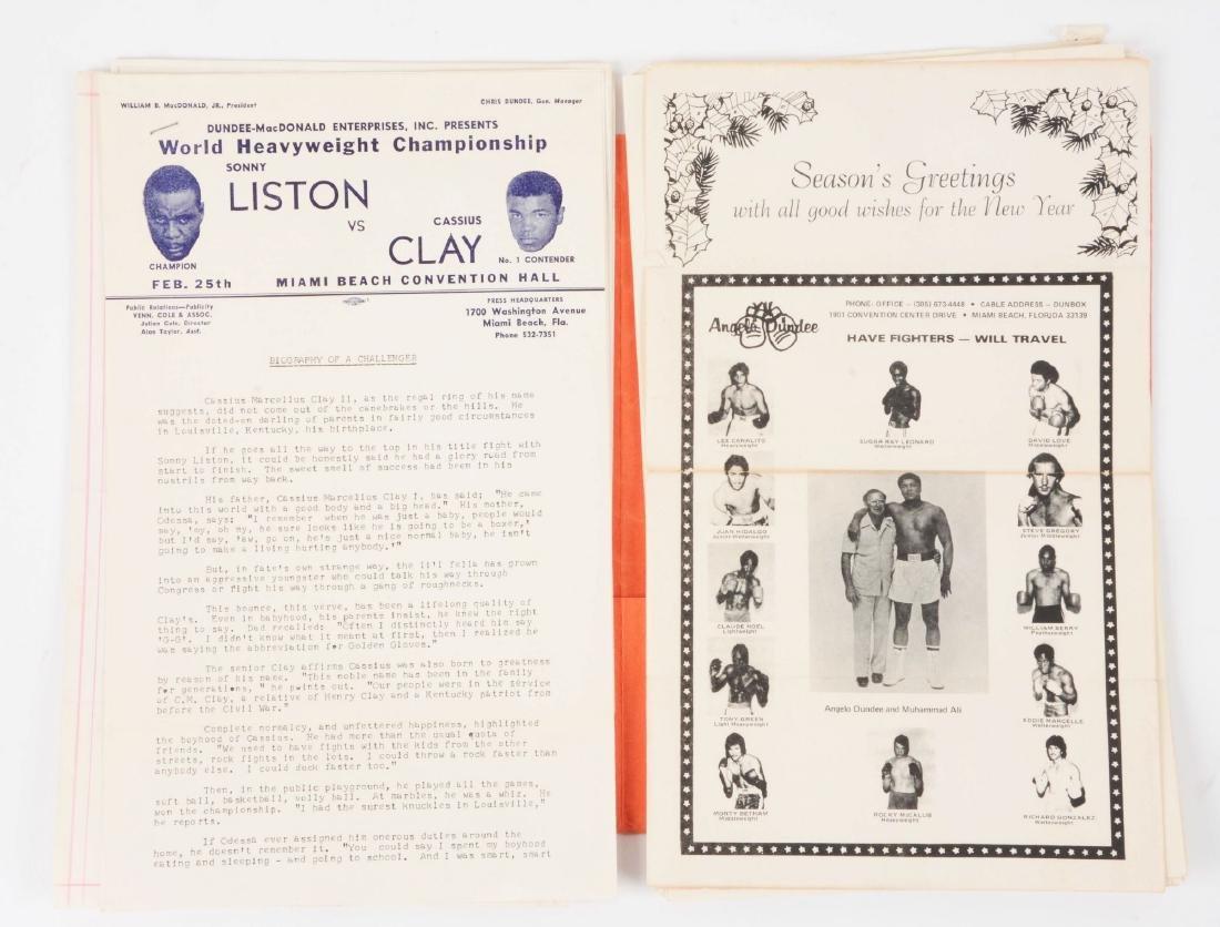 Very scarce Sonny Liston vs Cassius Clay Press Kit from - 4