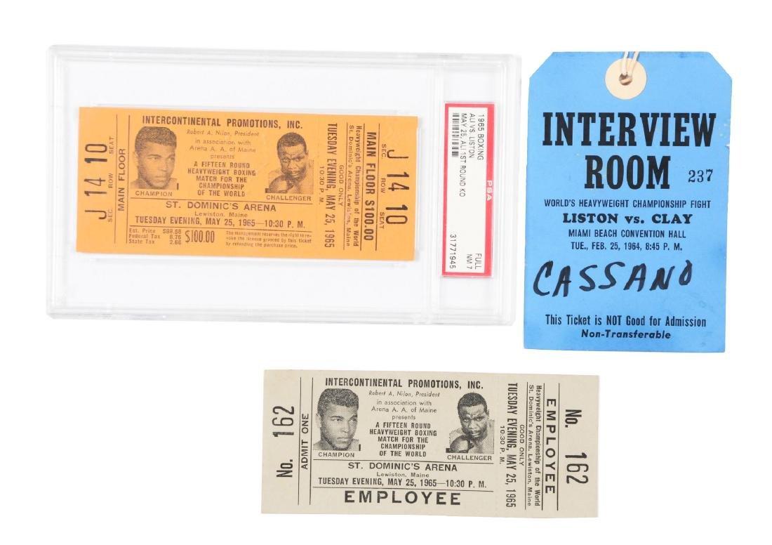 Muhammad Ali vs Sonny Liston Full Tickets and Press