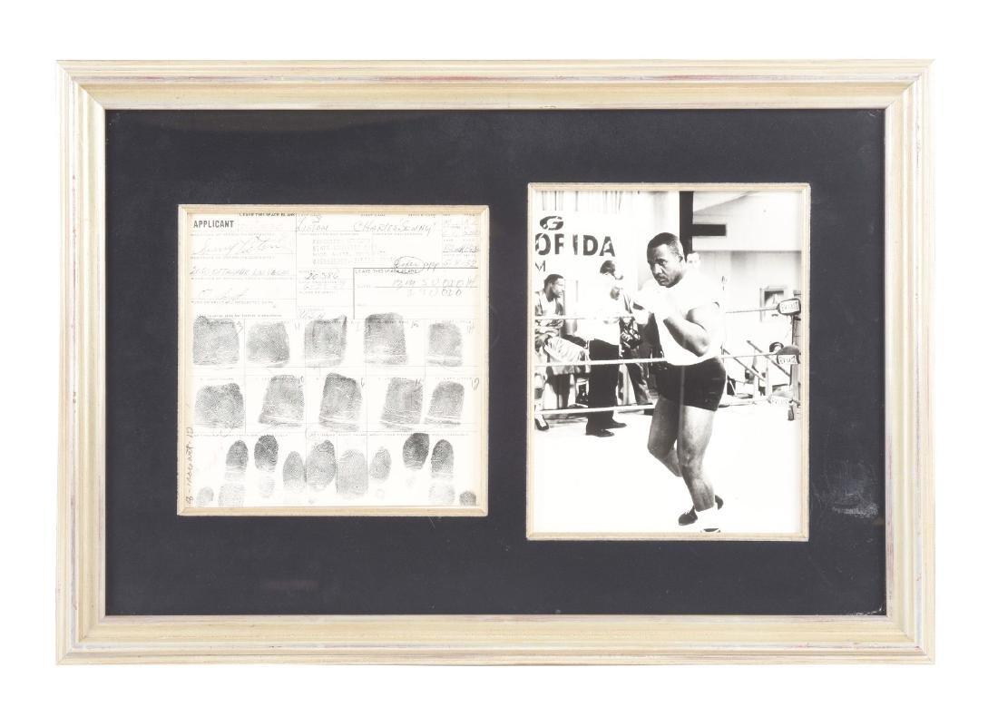 1967 Sonny Liston Signed Fingerprint Card.