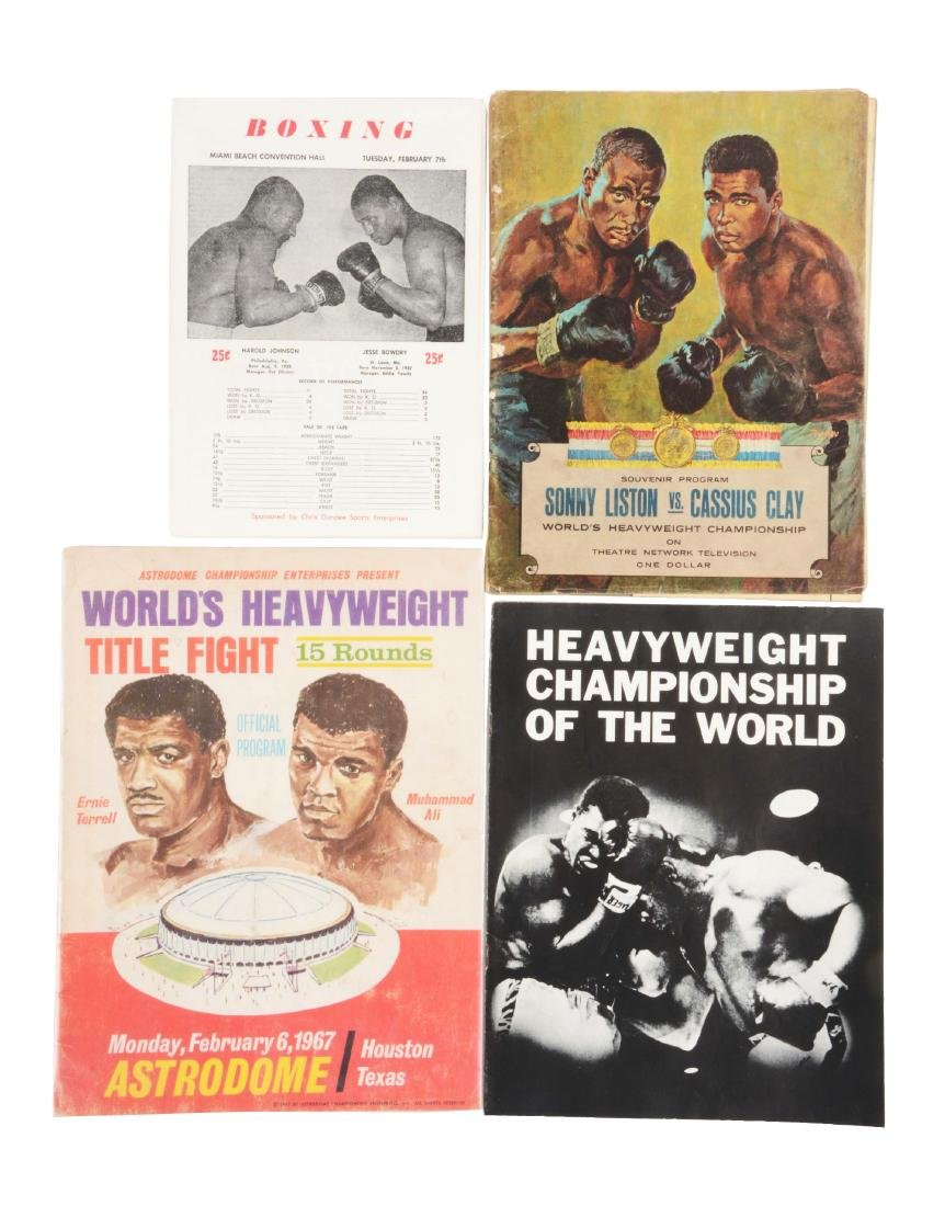 Lot of 15: Boxing Program Collection with Muhammad Ali