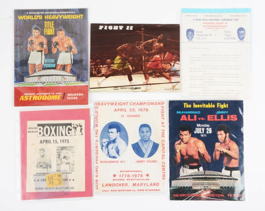 Lot of 15: Boxing Program Collection with Muhammad Ali - 2