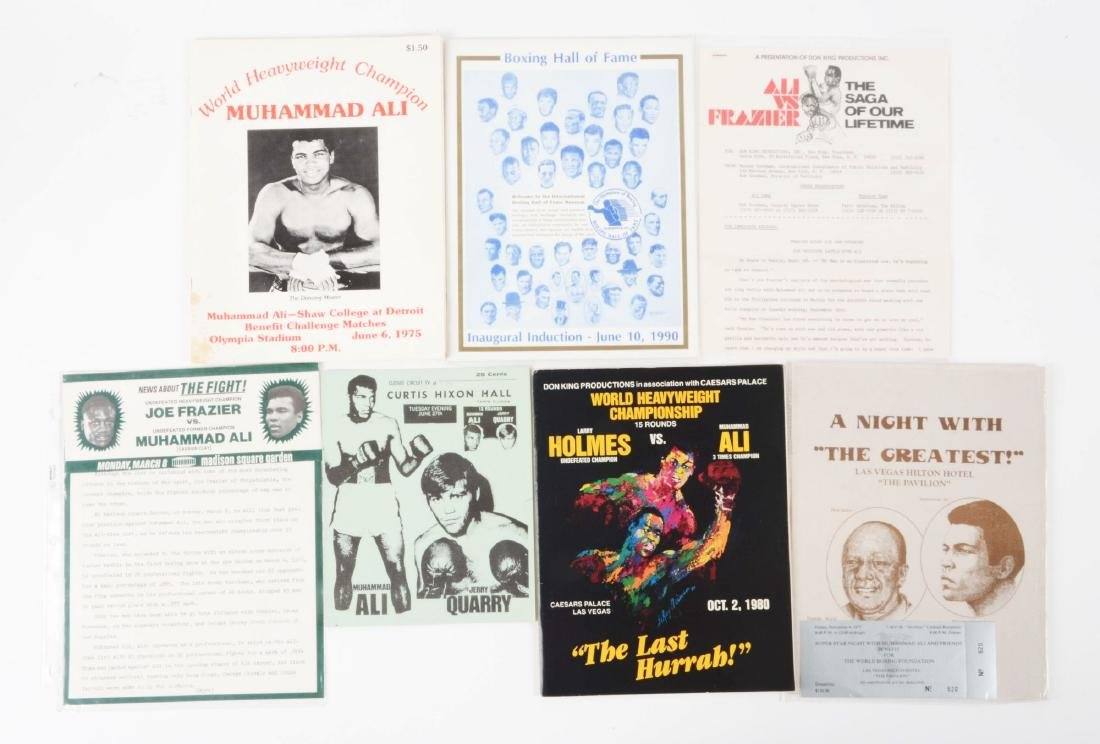 Lot of 15: Boxing Program Collection with Muhammad Ali - 3
