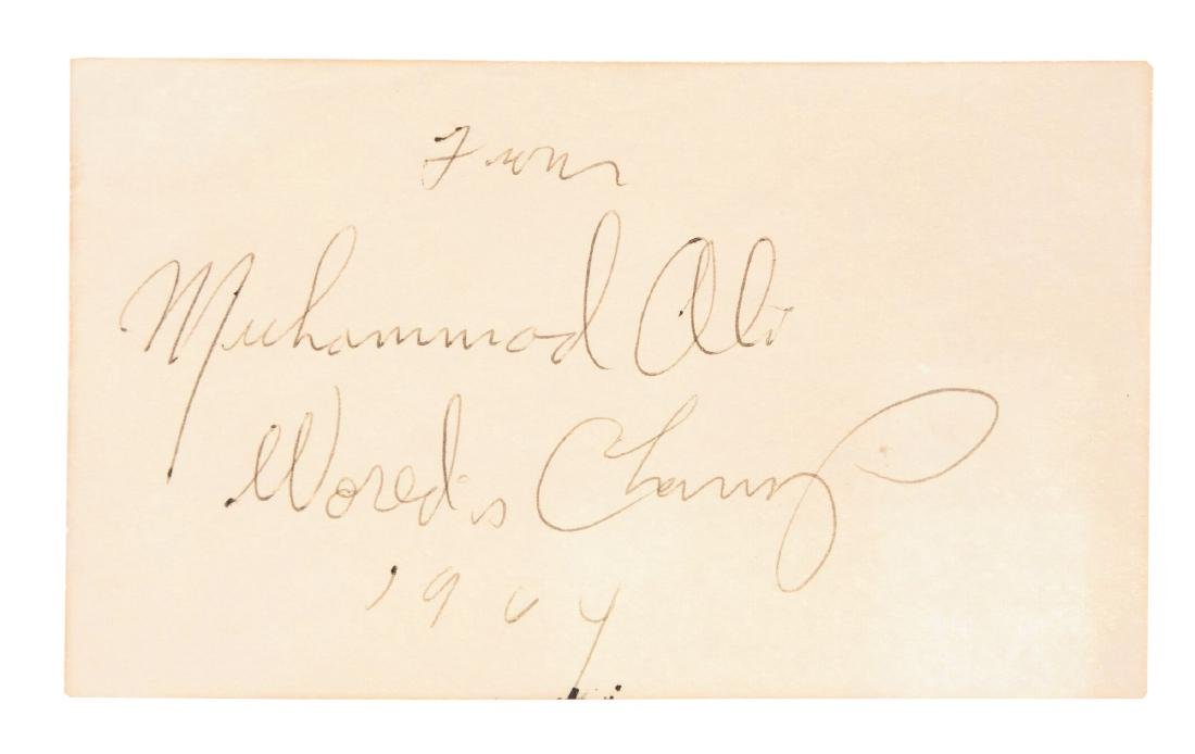Extremely Early Muhammad Ali Worlds Champ Signature.